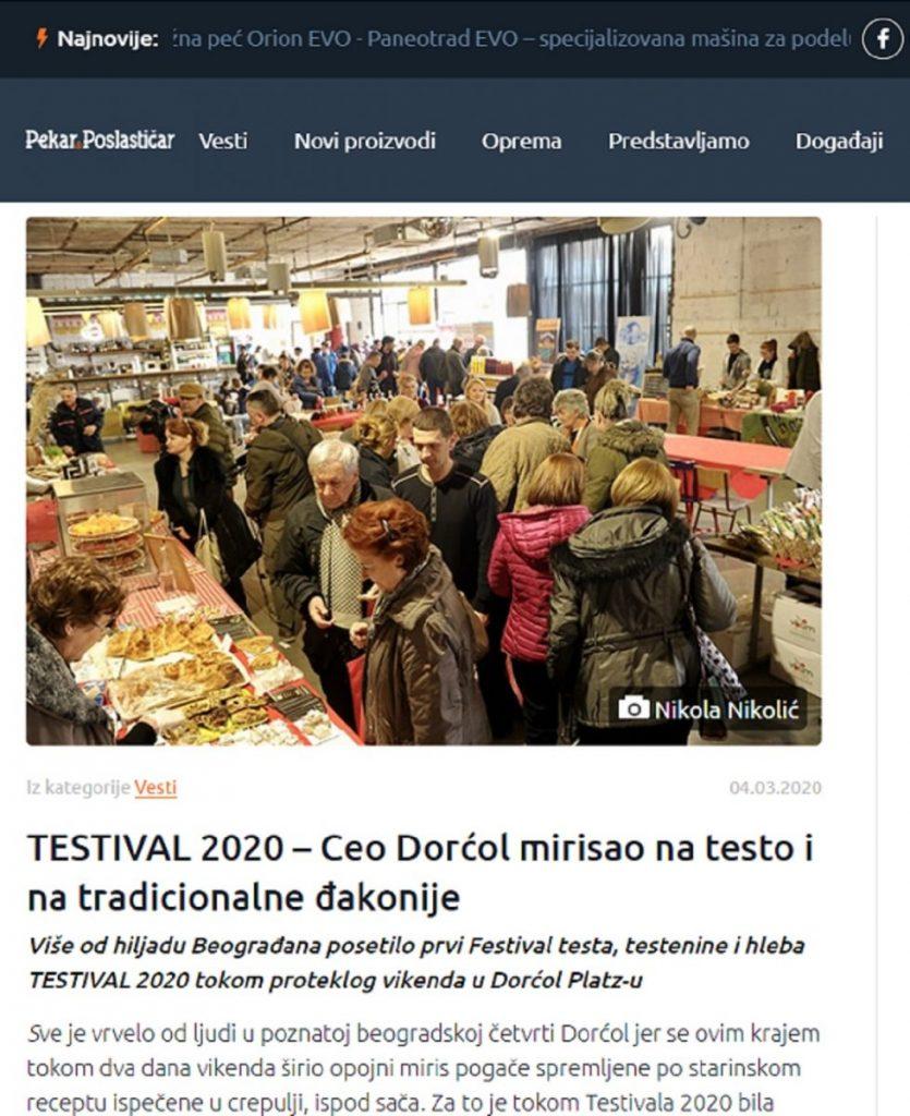 #TESTIVAL2020 u Pekar&Poslastičar