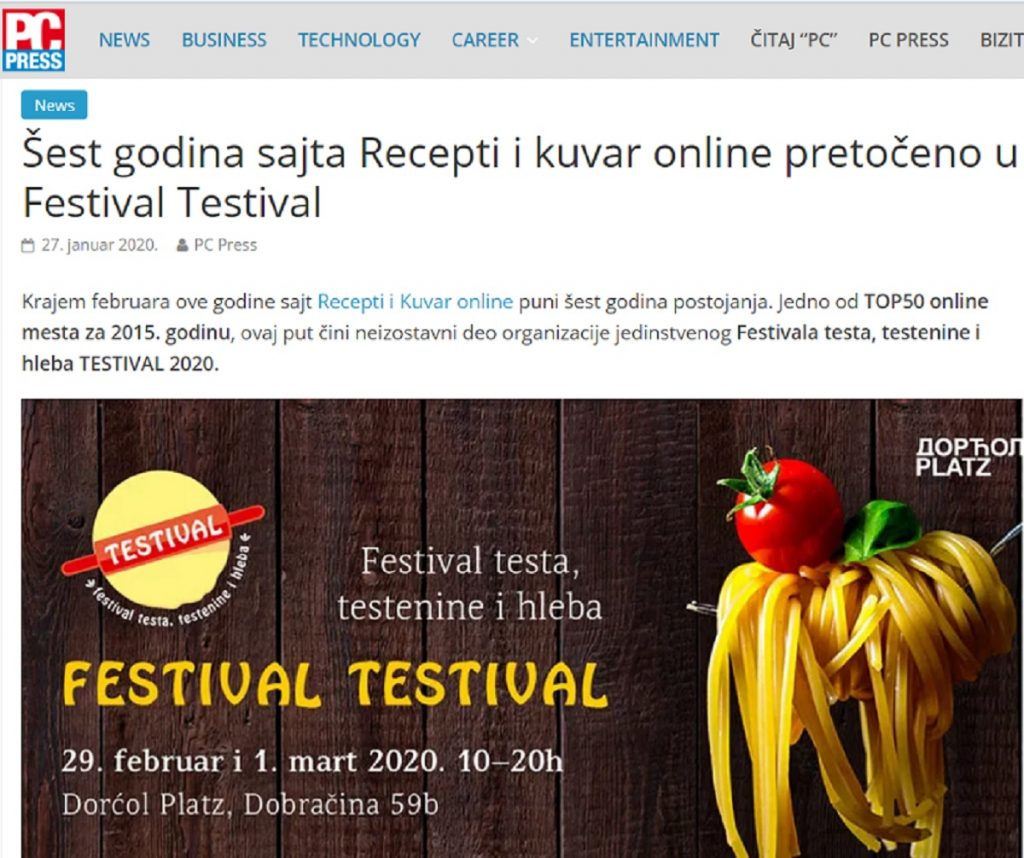 #TESTIVAL2020 u PC Press